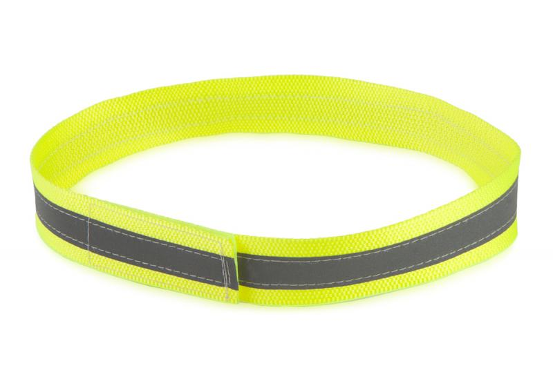FIREDOG® Fényvisszaverő nyakörv tépőzárral Sárga 55 cm