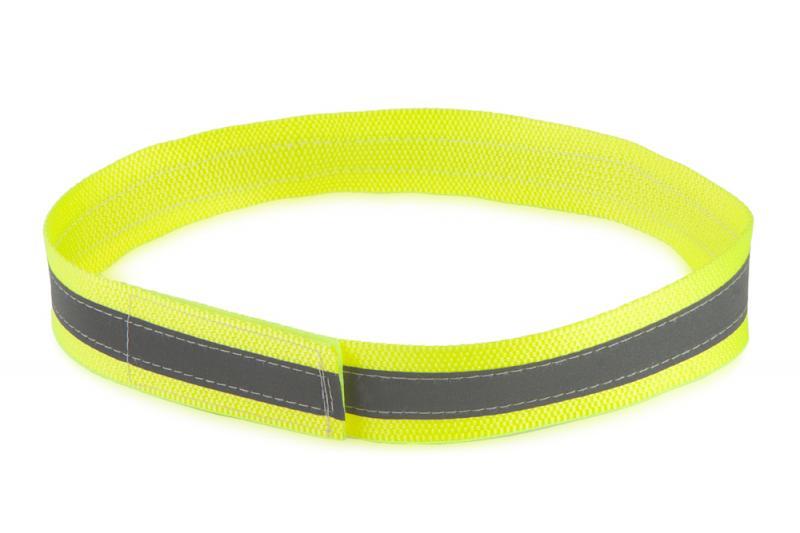 FIREDOG® Fényvisszaverő nyakörv tépőzárral Sárga 65 cm
