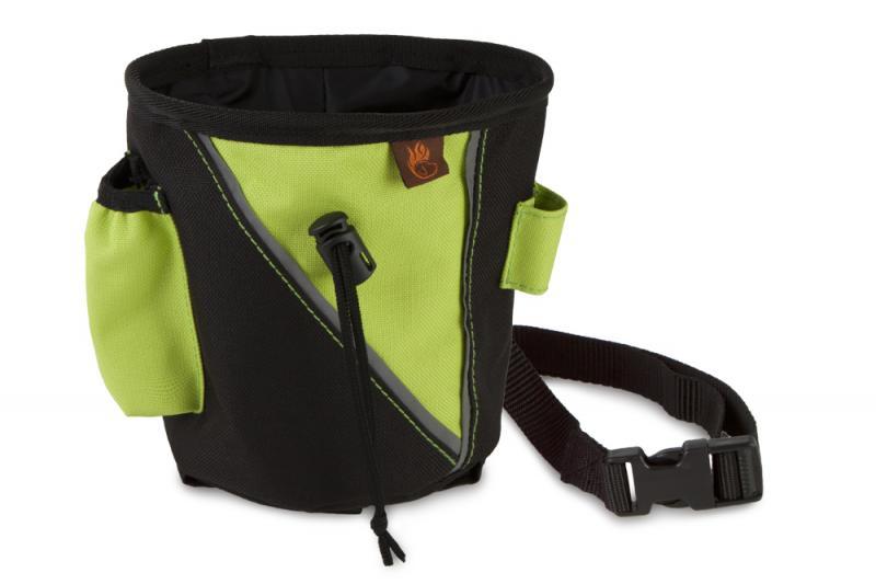 FIREDOG Jutalomfalat tartó kicsi - Fekete/Neon zöld