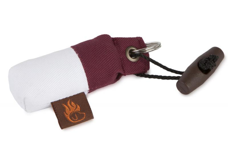 FIREDOG® Mini Dummy Kulcstartó - Bordó / Fehér