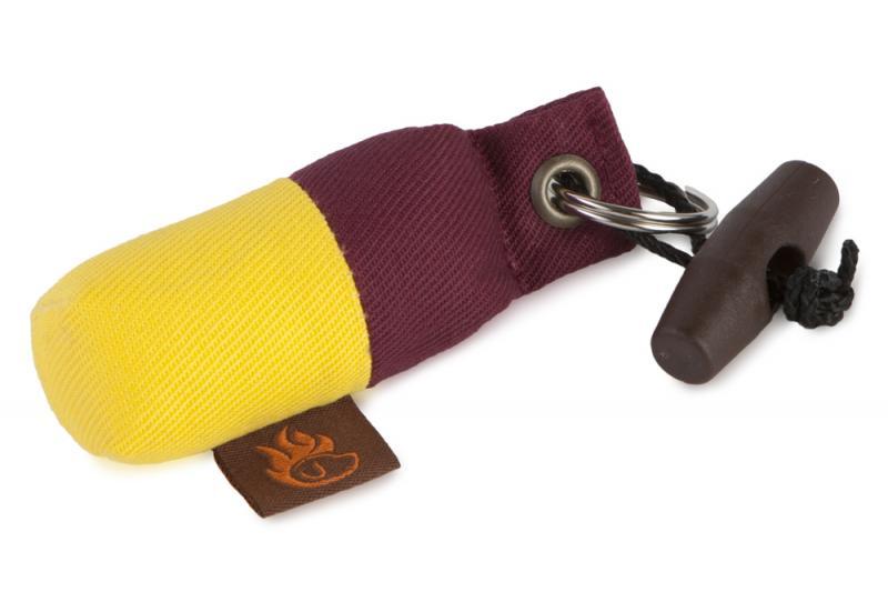FIREDOG Mini Dummy Kulcstartó - Bordó / Sárga