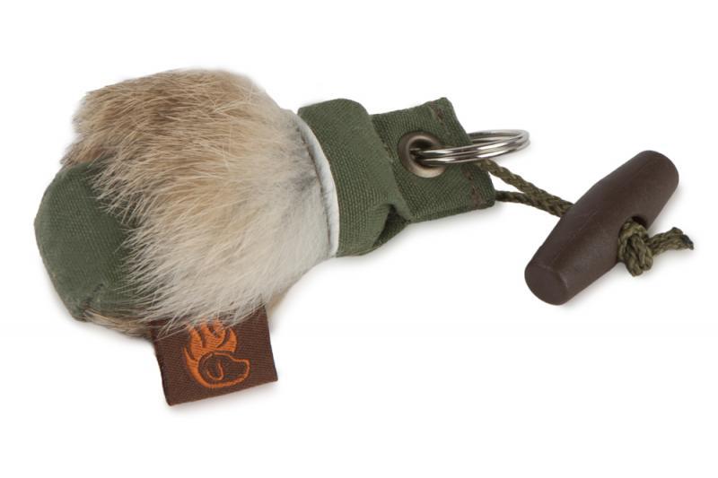 FIREDOG® Mini Dummy Kulcstartó - Nyúlszőrrel Khaki