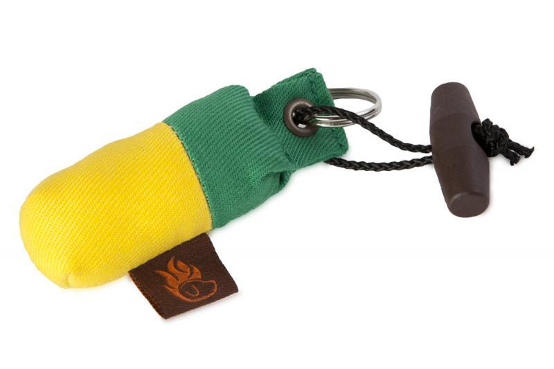 FIREDOG Mini Dummy Kulcstartó - Zöld/Sárga