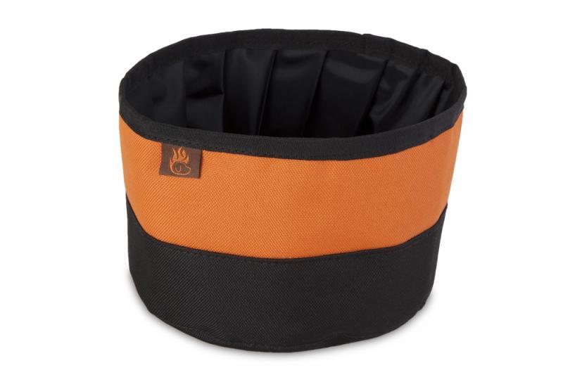 FIREDOG Utazó Tál - Fekete/Narancs