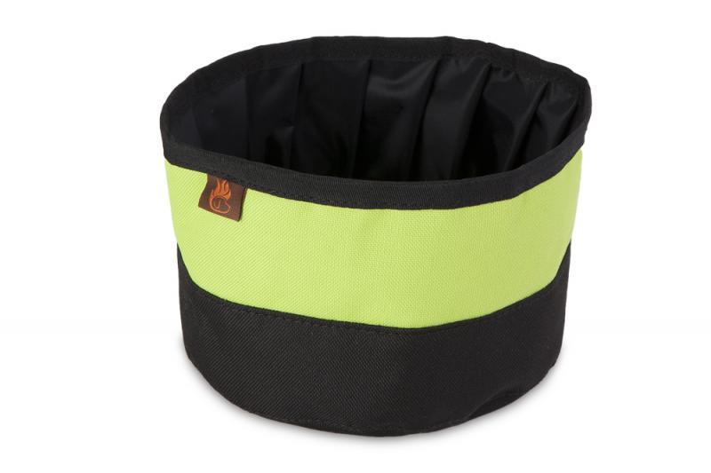 FIREDOG Utazó Tál - Fekete/Neon zöld