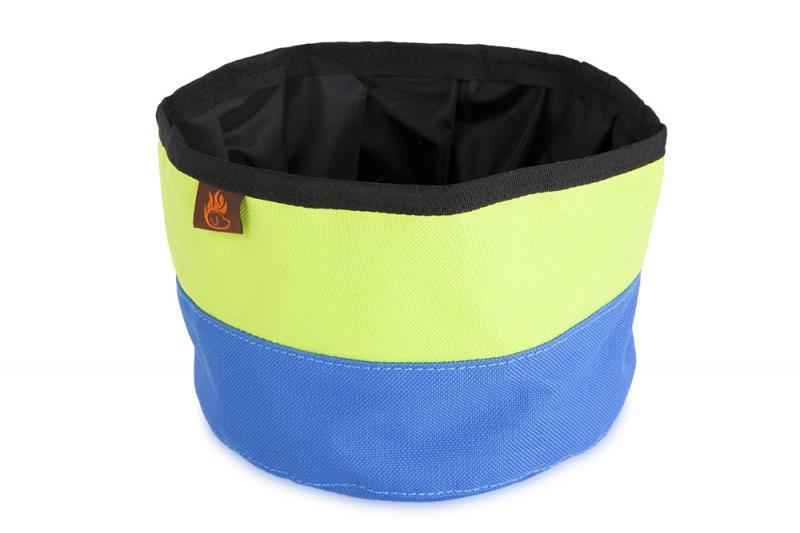 FIREDOG® Utazó Tál - Kék/Neon zöld
