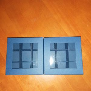 Bonbon doboz, kék színű, 9 darabos