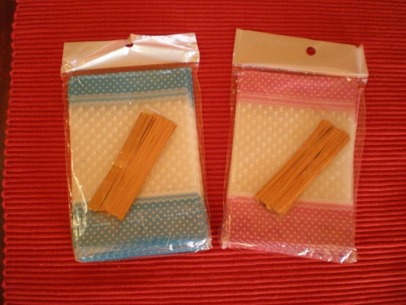 Dísz csomagoló tasak szett - 50 darab/szett