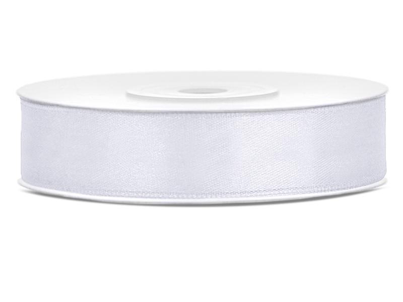 12 mm széles szatén szalag (25 m) – fehér