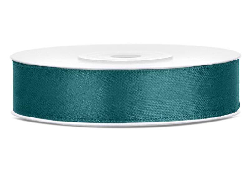 12 mm széles szatén szalag (25 m) – fenyőzöld