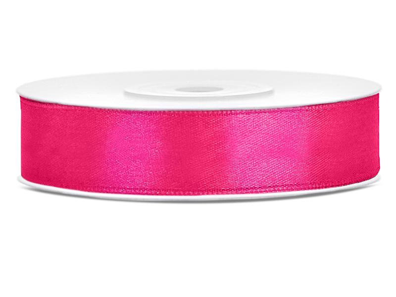 12 mm széles szatén szalag (25 m) – pink