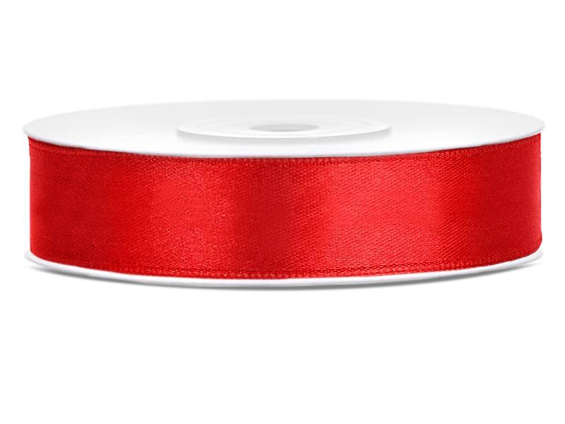 12 mm széles szatén szalag (25 m) – piros