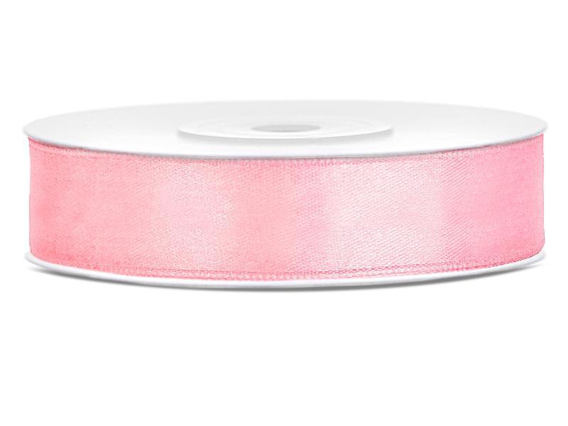 12 mm széles szatén szalag (25 m) – rózsaszín