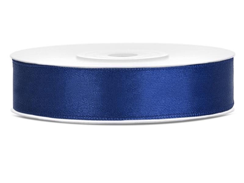 12 mm széles szatén szalag (25 m) – tengerészkék