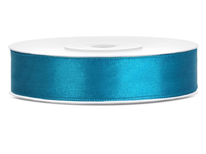 12 mm széles szatén szalag (25 m) – türkiz