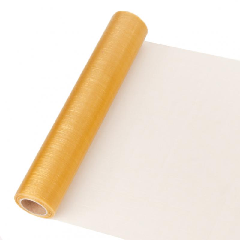 23,5 cm széles organza futó (10 m) – arany (ÚJ)