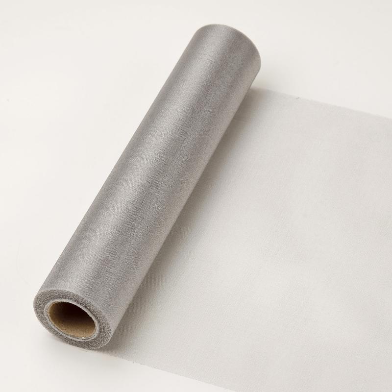 23,5 cm széles organza futó (10 m) – ezüst (ÚJ)