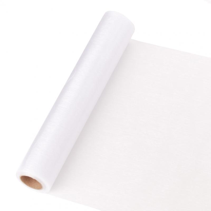 23,5 cm széles organza futó (10 m) – fehér (ÚJ)
