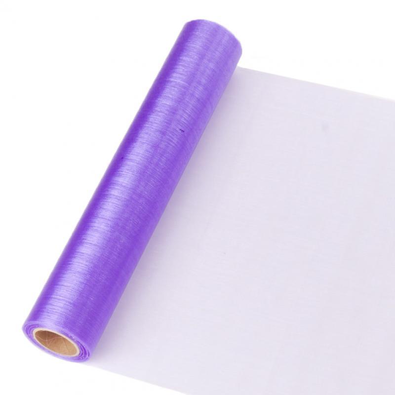 23,5 cm széles organza futó (10 m) – lila (ÚJ)