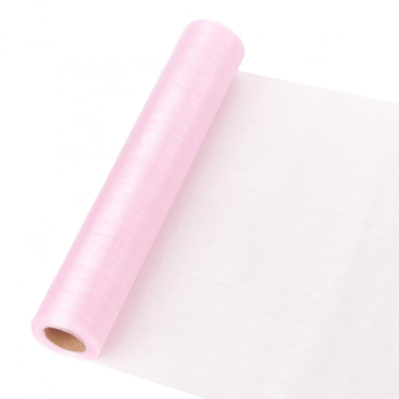 23,5 cm széles organza futó (10 m) – rózsaszín (ÚJ)