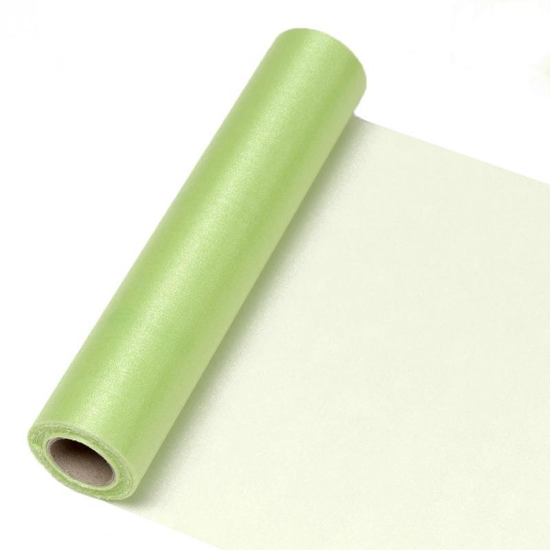 23,5 cm széles organza futó (10 m) – zöld (ÚJ)