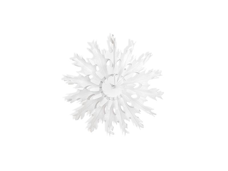 25 cm-es hópihe rozetta – fehér