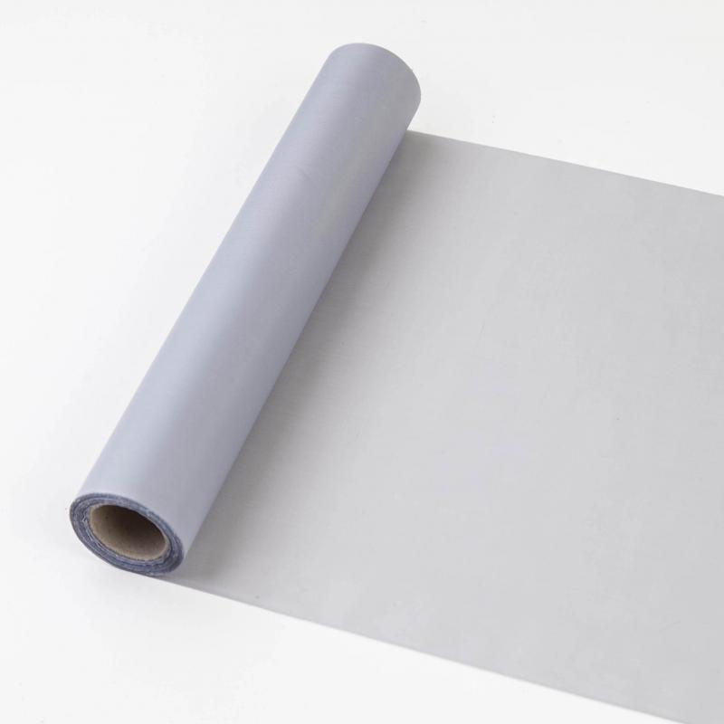 25 cm széles dekorselyem futó (10 m) – ezüst