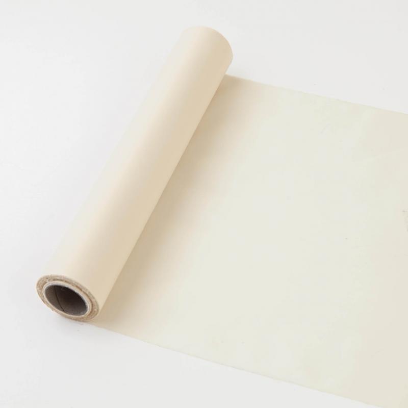 25 cm széles dekorselyem futó (10 m) – krém