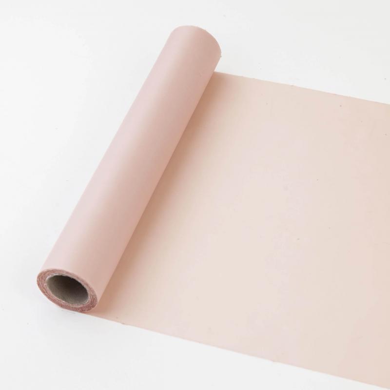 25 cm széles dekorselyem futó (10 m) – púderszín