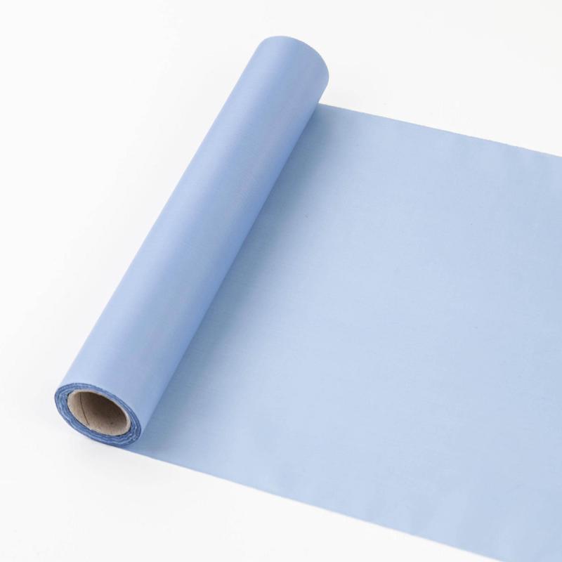 25 cm széles dekorselyem futó (10 m) – vintage kék
