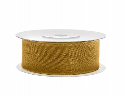 25 mm széles organza szalag (25 m) – arany