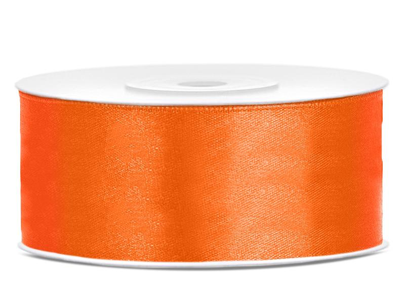 25 mm széles szatén szalag (25 m) – narancs