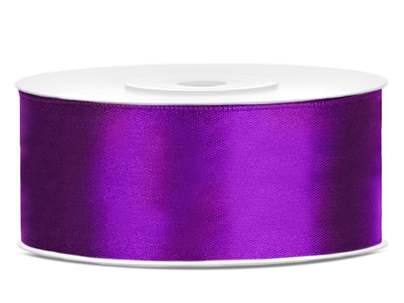 25 mm széles szatén szalag (25 m) – sötétlila