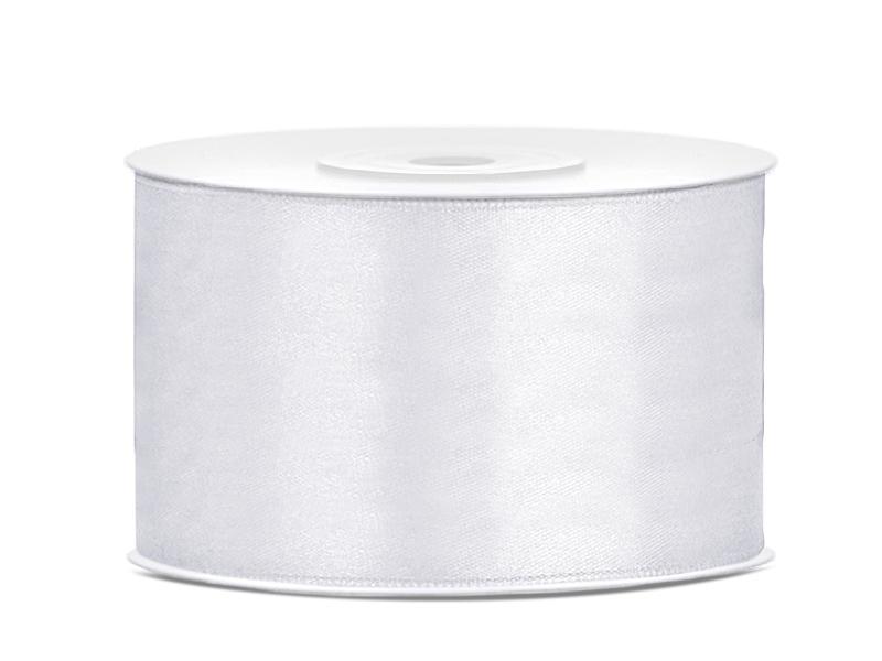 38 mm széles kétoldalas szatén szalag (25 m) – fehér