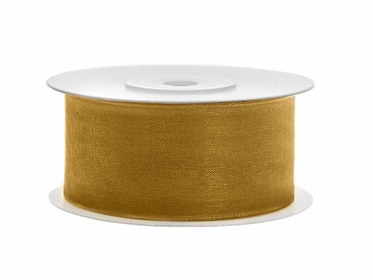 38 mm széles organza szalag (25 m) – arany