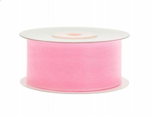 38 mm széles organza szalag (25 m) – rózsaszín