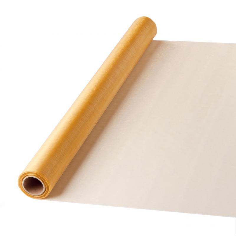 47 cm széles organza futó (10 m) – arany (ÚJ)