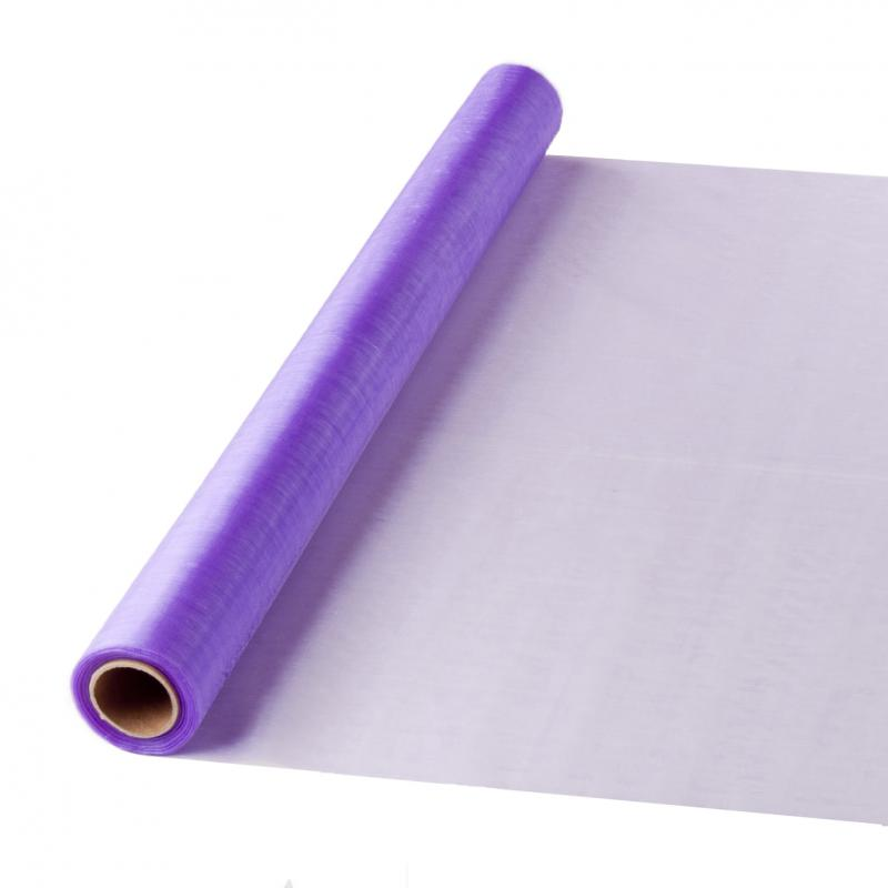 47 cm széles organza futó (10 m) – lila (ÚJ)