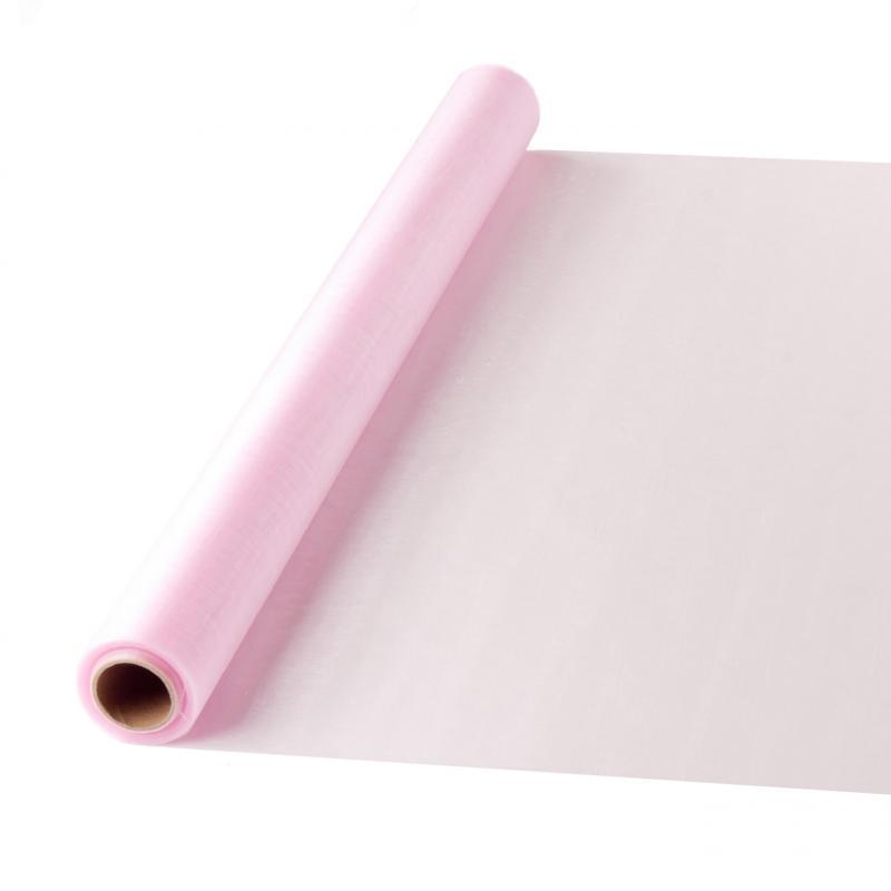 47 cm széles organza futó (10 m) – rózsaszín (ÚJ)