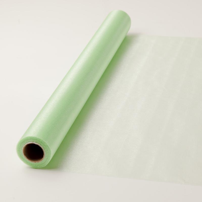 47 cm széles organza futó (10 m) – zöld (ÚJ)