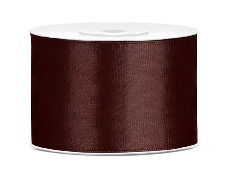 50 mm széles szatén szalag (25 m) – kávébarna