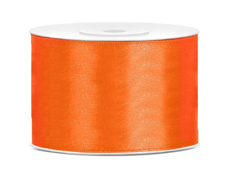 50 mm széles szatén szalag (25 m) – narancs
