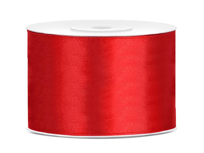 50 mm széles szatén szalag (25 m) – piros
