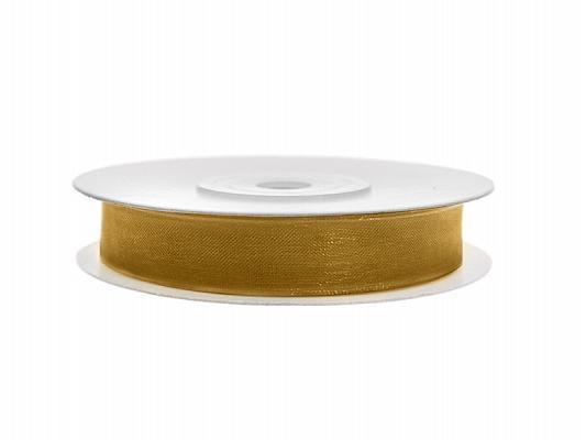 6 mm széles organza szalag (25 m) – arany