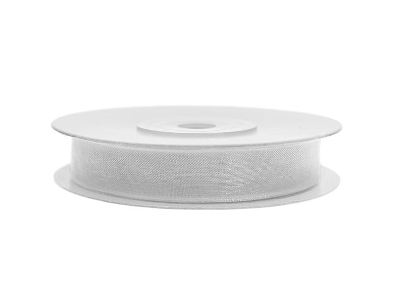 6 mm széles organza szalag (25 m) – ezüst