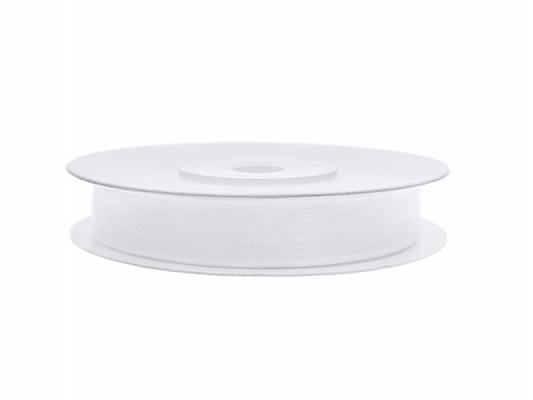 6 mm széles organza szalag (25 m) – fehér
