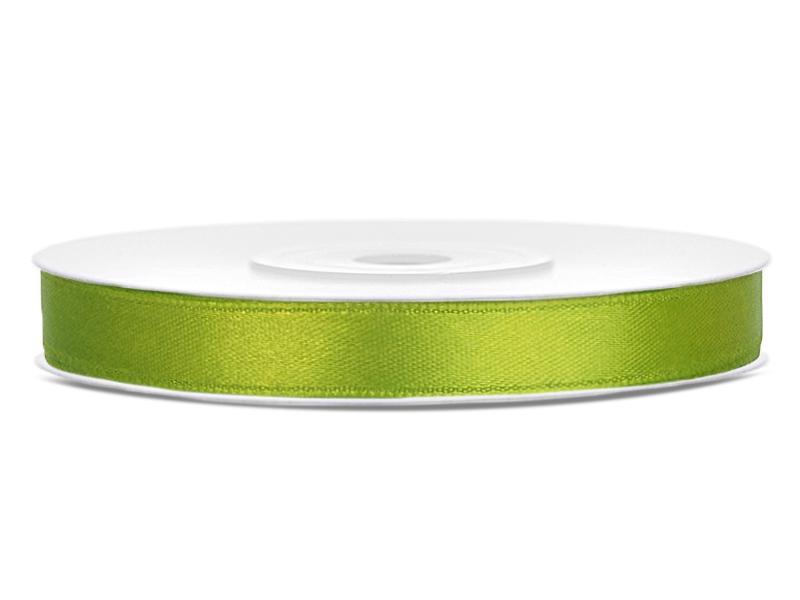 6 mm széles szatén szalag (25 m) – élénk fűzöld