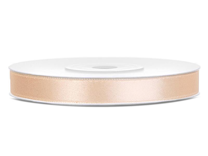 6 mm széles szatén szalag (25 m) – krém