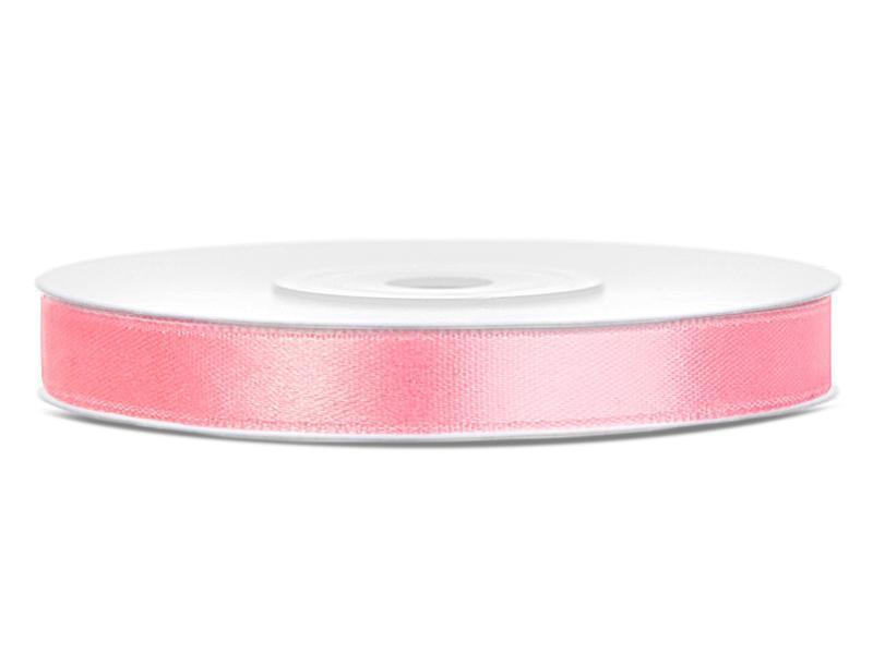 6 mm széles szatén szalag (25 m) – rózsaszín