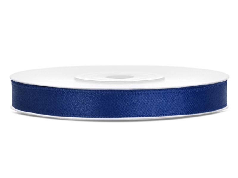 6 mm széles szatén szalag (25 m) – tengerészkék